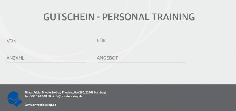 Personal Training - Gutschein 2